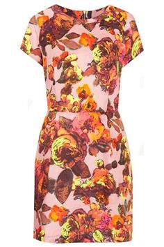 Floral Printed Shift Dress by Topshop