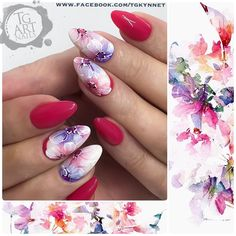 64 отметок «Нравится», 1 комментариев — TG Art Nails (@tg_art_nails) в Instagram: «#summermood #tgartnails #fastfloristics #koristelukoulutus #instanails #kynsistudio #kynnet #nails…» Sharpie Nail Art, Nail Ink, Gel Nail Art, Flower Nail Designs, Diy Nail Designs, Flower Nail Art, Great Nails, Cute Nails, Water Color Nails