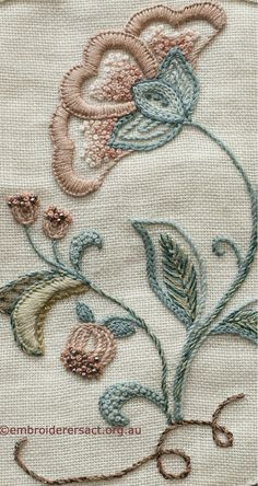 Flower detail from Guilds Banner - Embroiderers' Guild ACT