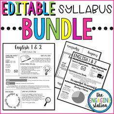 Syllabus Template | Middle School Resources | Pinterest | Syllabus ...