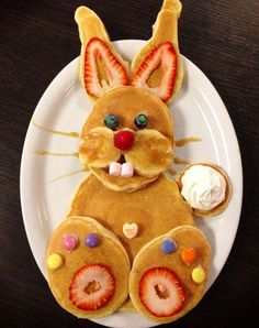 What a cute breakfast idea for Easter for the kids!
