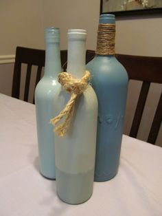 Wine bottle crafts - need to finally do something w the bottles I have collected!!