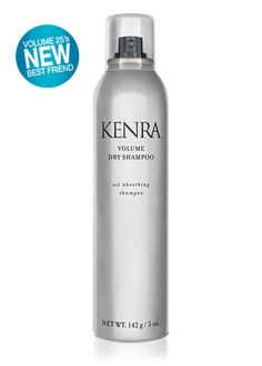 KENRA Volume Dry Shampoo  -Refreshes styles with up to 6x the volume -Prolongs styles by absorbing oils and impurities -Unique translucent spray leaves no white residue -Builds an ideal foundation for styling