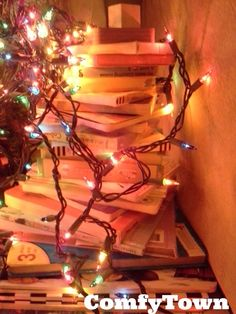That Christmas Tree of books on Pinterest must be SUPER-GLUED. I can't get it to work w/2 little ones unless I Photoshop it in.
