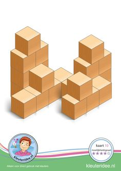 Buiding card difficulty 4 for block area, for kindergarten and preschool, kindergarten. Block Center, Block Area, Cube Pattern, Pattern Blocks, Math Lab, Kindergarten Social Studies, Math Crafts, Math Stem, Logic Puzzles