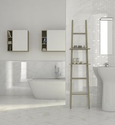 Total white #bathroom. Another #interiordesign idea selected by Instudio