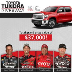 I just entered the Toyota Tundra Giveaway. You should too!