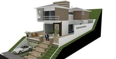 Dream House Plans, Modern House Plans, Modern House Design, Houses On Slopes, Hillside House, Building Companies, Affordable Housing, House Layouts, Building Design
