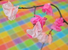 cherry blossom craft #kids #crafts #spring