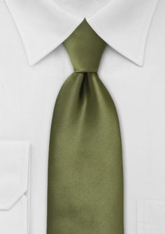 Solid Tie in Rich Olive Green - A departure from traditional solid color neckties, this fresh olive hued piece is perfect for attaining an elegant level of confidence and pois Olive Green Weddings, Olive Wedding, Greek Wedding, Olive Green Color, Green Colors, Spring Wedding Colors, Fall Wedding, Wedding Ideas, Church Wedding
