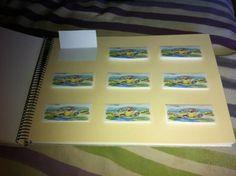 Hoja interior para libro de firmas para bodas. Aquí hice estas mini tarjetas para que cada imitado firmase o pusiera su dedicatoria.