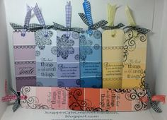 Welcome to Scrappin' Cat's Creative Endeavors: Paint chip bookmarks