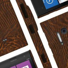 Nokia Lumia 1020 - Brown Leather Croc (EMPIRE Klix Slim-Fit Hard Case)