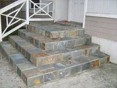 How to install slate over concrete installation