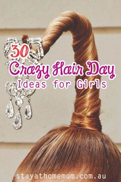 Crazy Hair Day Ideas for Girls. Crazy Hair Day is super fun - go with it and try some of these easy-to-do styles at home! Crazy Hair Day Ideas for Girls. Crazy Hair Day is super fun - go with it and try some of these easy-to-do styles at home! Crazy Hair Day Girls, Crazy Hair For Kids, Crazy Hair Day At School, Crazy Hair Days, Girl Short Hair, Long Hair, School Hair, Cute Medium Haircuts, Girl Haircuts