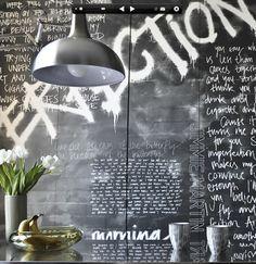 Blackboard walls, Type Decor, Office Inspiration, Wall Art, Mural.