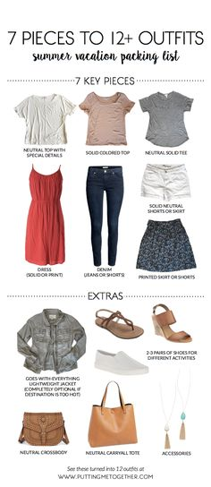 Summer Vacation Packing List: 7 Pieces to 12 Outfits + 40% Off thredUP Code