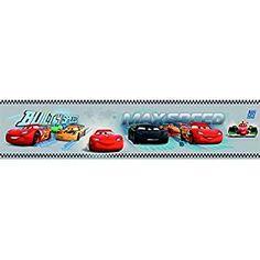Galerie Official Disney Cars Lightning McQueen Childrens Wallpaper Border (Grey CR3505-3) by Disney