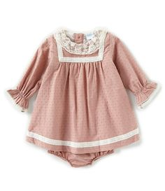 0c161b8d65197 Edgehill Collection Baby Girls Newborn-6 Months Long Sleeve Dot Dress