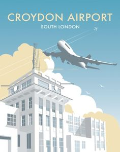 Croydon Airport, Surrey Wholesale Prints Find any Poster, Art Print, Framed Art or Original Art at Great Prices. New London, South London, Croydon Airport, Thornton Heath, Wholesale Tea, London Drawing, London Airports, Art Deco Posters, World War One