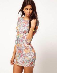 vestidos con estampados grandes
