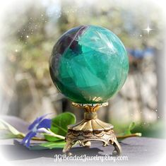 Fluorite Crystal Ball 60mm Sphere 372 Grams #Healing #CrystalBall #Stones #Fluorite