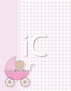 Royalty Free Clipart Image of a Background With a Baby Carriage