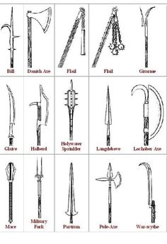 Medieval Weapons, Battle Axes