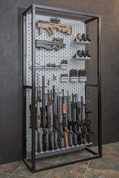 A-Frame & Freestanding Racks Airsoft Storage, Ammo Storage, Weapon Storage, Airsoft Guns, Weapons Guns, Guns And Ammo, Zombie Weapons, Ninja Weapons, Gun Safe Room