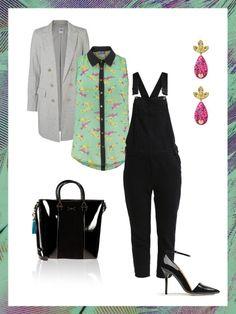 What to wear to work: das perfekte Büro-Outfit heute mit Latzhose. Kombiniert mit Long-Blazer und High-Heels ist diese auf jeden Fall auch business-tauglich!