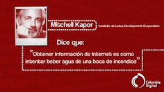 Mitchel Kapor protagoniza nuestra frase del día.