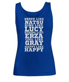 A must for any anime fan this Fitted tank top features the characters from the anime series Fairy Tail. Printed, Made, And Shipped From The USA