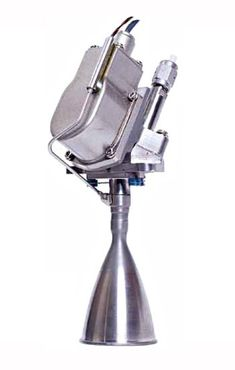Bipropellant thrusters for satellites, spacecraft, space probes and orbital transfer vehicles. Space Probe, Nasa Space, Rocket Motor, Rocket Engine, Homemade Weapons, Gas Turbine, Combustion Chamber, Drone Technology, Control Valves