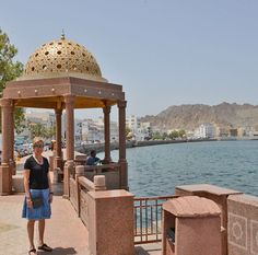 Me in Muscat near the old souk at Muttrah. Just doing another bit of shopping. It was HOT so I just have my tiny black kid leather shoulder bag with the essentials inside. Muscat, Black Kids, Leather Shoulder Bag, Gazebo, Old Things, Essentials, Tours, Outdoor Structures, Hot