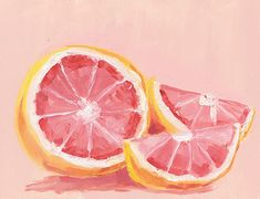 margaretolson:  look at this little grapefruit painting i did
