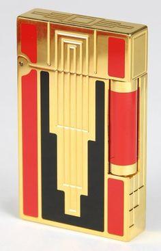 """S.T. Dupont Paris France """"Art Deco"""" lighter : Lot 2596"""