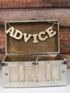advice box for the newlyweds