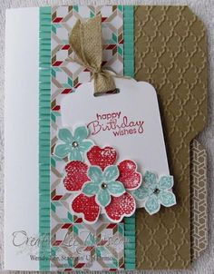Birthday Mini File Folder Card, SU cards, Envelope Punch Board