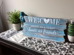 I love our vinyl on wood pallets! #uppercaseliving #decor8life