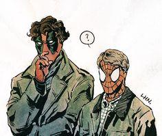 Mashup: #Deadpool & Spider-Man vs #Sherlock Holmes & Doctor Watson