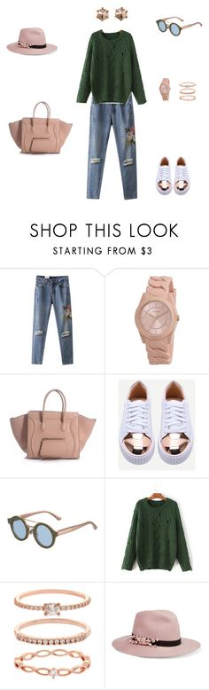 """""""Chunky Knits"""" by sebolita ❤ liked on Polyvore featuring WithChic, Pilgrim, Jimmy Choo, Accessorize, Eugenia Kim and Marc by Marc Jacobs"""