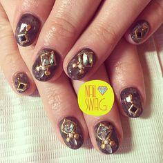 THE STONE AGE NAIL for Tenika! #nailswag #nails #nailart #nailartclub #swag #gelnail #LA