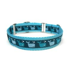 A Whales Tale dog collar
