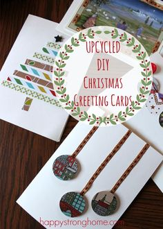 DIY upcycled Christmas card tips - for those of us who save all those pretty Christmas cards from year to year, this is a great way to reuse and recycle them into a craft!