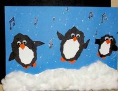 cute+penguine+crafts | cute little dancing penguin art project for elementary kids. Find ...