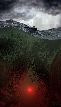 ❤️ Concept Art:The Trench /Aquaman Dc Comics Poster, Dc Comics Art, Dark Fantasy Art, Dark Art, Dc World, Arte Horror, Creepy Art, Fantasy Landscape, Nature Pictures