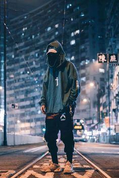 i-tech streetwear hoodie -all sizes Moda Cyberpunk, Cyberpunk Fashion, Hypebeast Outfit, Look Street Style, Street Styles, Japanese Streetwear, Japanese Street Fashion, Men's Street Fashion, Camo Pants