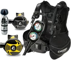 Cressi Start Scuba Diving BCD, Regulator, Console, Octopus, Dive Gear Package,