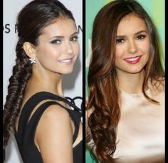Nina Dobrev hair up or hair down