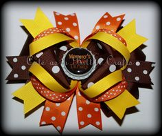 Beautiful Mix and match Baby's first Thanksgiving Boutique Hairbow can also say happy thanksgiving or my first thanksgiving by tootoocute4you on Etsy